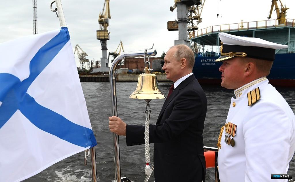 В церемонии спуска «Механика Сизова» на воду принял участие президент Владимир ПУТИН. Фото пресс-службы главы государства