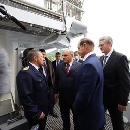 Премьер-министр Михаил МИШУСТИН поднялся на борт нового судна «Командор». Фото пресс-службы правительства Камчатки