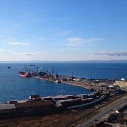 Корсаковский порт. Фото 2016 г.